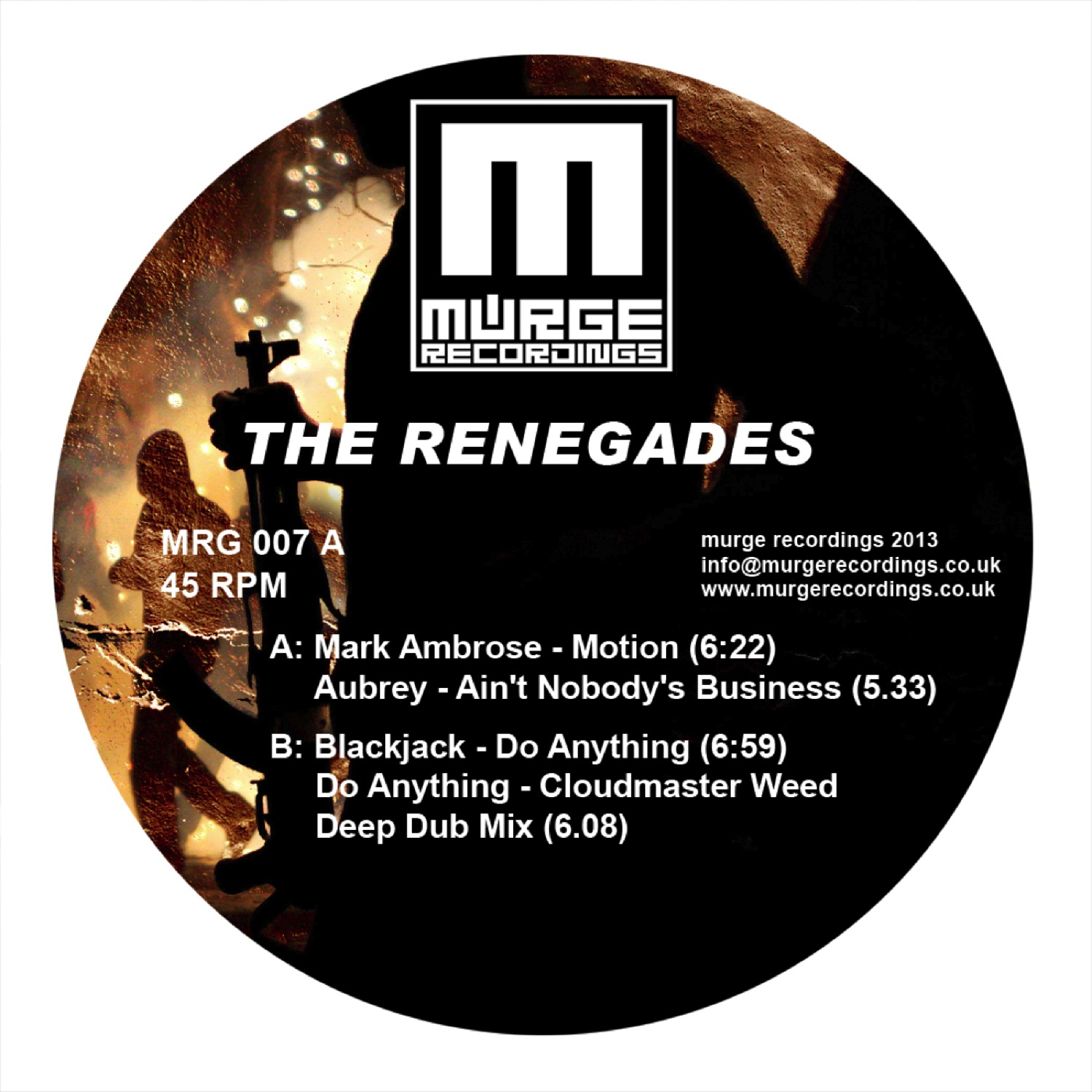 Murge Recordings007 - The Renegades - Various Artists 1400 pxl